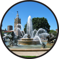 Photo of J C Nichols Memorial Fountain in Kansas City Missouri