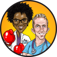 Gift Caricature of Doctors from a patient in St. Louis