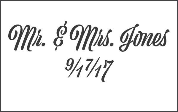 Custom wedding paper bax illustration caricatures