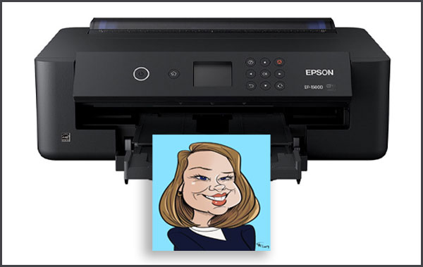 Photo of Digital Caricature print by bax illustration