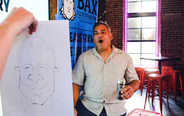 Caricatures for NYE party in St. Louis